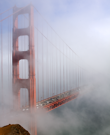 on a foggy day in color by Ted Petrovits