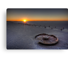 Barren Sunset • Lake Hart • South Australia  Canvas Print