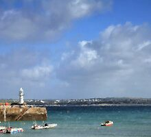 Impression Of St Ives Harbour by Mike Honour