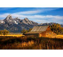 The Moulton Barn.  Mormon Row.  Jackson, Wyoming. USA. Photographic Print