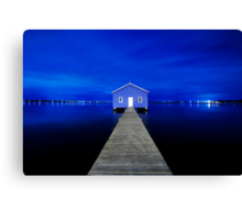 Crawley Edge Boatshed Canvas Print