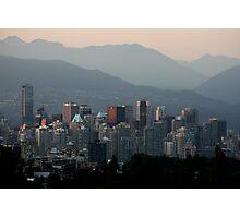A Smoky Vancouver Evening Photographic Print