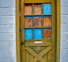wooden doorway by courtneyk