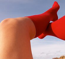 RED SOCKS by annegallien