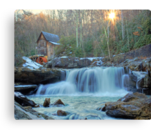 Sunset on Glade Creek Canvas Print