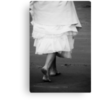 walking into her new life... one filled with love Canvas Print