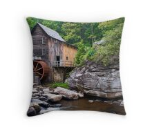 Grist Mill at Babcock State Park Throw Pillow