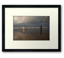 wait for me my love Framed Print
