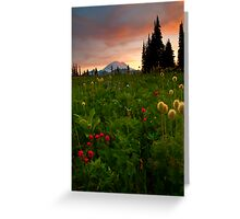 Paintbrush Sunset Greeting Card