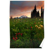 Paintbrush Sunset Poster
