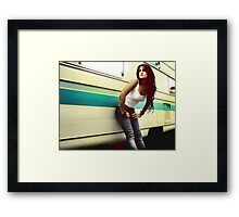 Waiting for the surf Framed Print