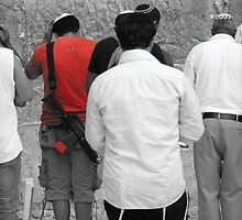 Praying in the Western Wall by Ram Tetro