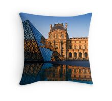 The Louvre at the Golden Hour Throw Pillow