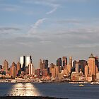 nyc skyline afternoon cityscape over hudson by upthebanner