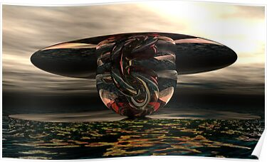 Curves, Cylinder,  Sphere and Trefoil Psychosis by Sazzart