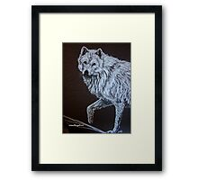 20 Minute Drawing...Detail Wolf Study Framed Print