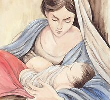 Mary and Child by morgansartworld
