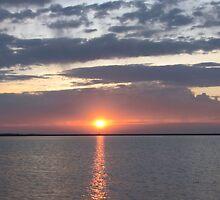 Sunrise Over Lake by WILDBRIMOWILDMAN