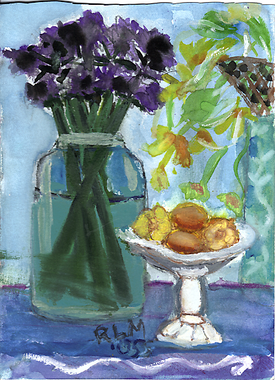 Flowers & Fruits Still Life by RobynLee