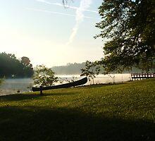 Misty Lake by RedLightRavine