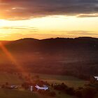 Sunset over Towanda, PA by MikeJagendorf