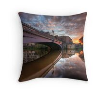 Lendal Bridge at Sunset, York Throw Pillow