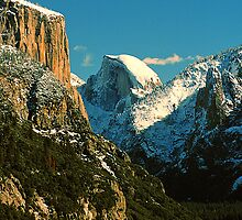 EL CAPITAN AND HALF DOME by Chuck Wickham