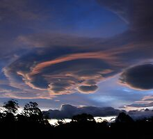 Lenticular Cloud Formation by Jodi Turner