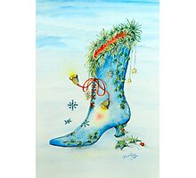 Snow Boot Photographic Print
