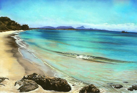 Wategos Beach- Byron Bay by maria paterson