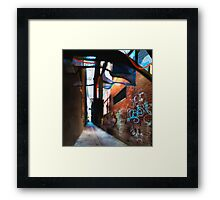 sheer blue Framed Print
