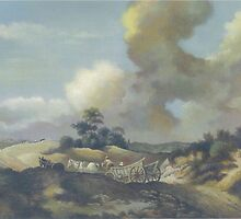 Suffolk landscape (After Gainsborough) by Esther Boshoff