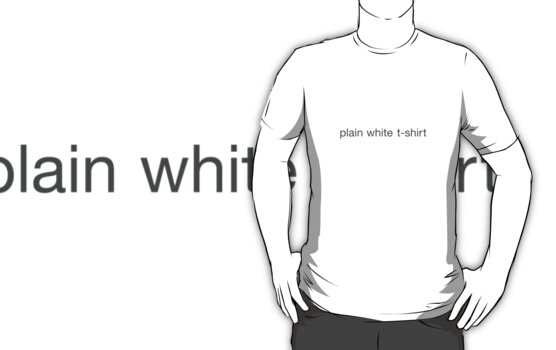 Plain white t-shirt by Fayebe