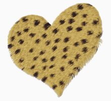 Heart Cheetah Print by Linda Allan