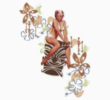 The Kitsch Bitsch : Tiki Goddess Retro Pin-Up by TheKitschBitsch