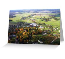 Small township (Baltic states) Greeting Card