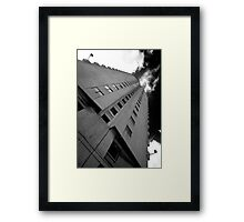 Right up her stairwell. Framed Print