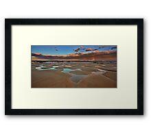 Bar Beach Panorama Framed Print