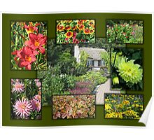 English Garden Collage Poster