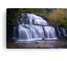 Purakunui falls,Southland Canvas Print