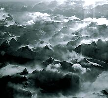 Over Southern Greenland - Black and White 2008 by Igor Pozdnyakov