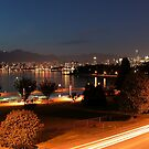 English Bay at Night,  Vancouver, BC  by AnnDixon