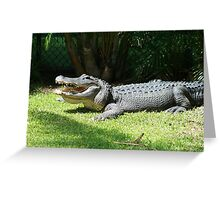 Happy Gator Greeting Card