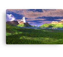 Inner Valley of the Sharrosflow Canvas Print