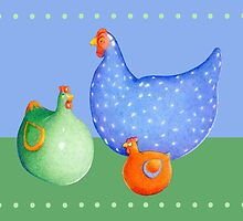 French Hens by mrana
