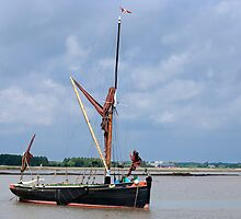 Thames Barge at Snape by William Davies