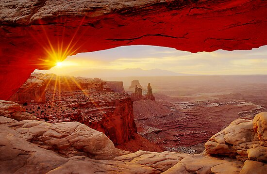 Mesa Arch Sunrise. by Philippe Widling