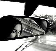 """raining rear vision"" by Husky"