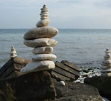 John's Balancing Rocks #2 by John  Cossham