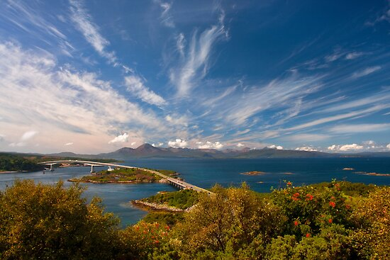 Isle of Skye in Autumn from Kyle of Lochalsh, Scotland. by photosecosse /barbara jones